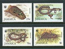 Jamaica Scott #591-594 MNH Jamaican Boa Snake WWF CV$45+