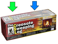 CSL CREOSOTE SWEEPING LOG 2hr Burn Treats Cleans Build-up Fireplaces Wood Stoves