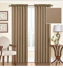 "Eclipse Rod Pocket Blackout Panel 63"" Length Samara Latte, 2 Panels (T48)"