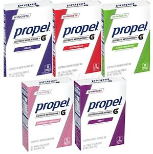 Propel Gatorade Electrolyte Drink Powder Packets Variety Pack 5 Boxes/50 Packets