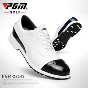 Pgm Golf Shoes Men Waterproof Casual Leather Spikes Non- Slip Sports Sneaker