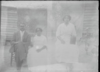 """Beautiful Black Couple on Bench 1900's Two 3""""x5"""" Images 2 Glass Plates Negatives"""