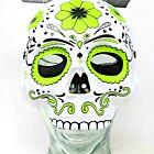 Halloween Mask Costume Sugar Skull Green Day of the Dead Masquerade Elastic