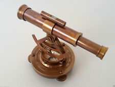 Theodolite Alidade Telescope Vintage Compass Instrument Solid Brass Antique Gift