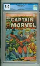 Captain Marvel #31 CGC 8.0 Thanos & Death App 1974