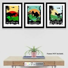 Jurassic Dinosaur Park Photo Poster Prints ONLY Dinosaur World Wall Art A4 3 typ
