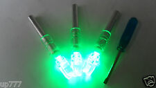3X Automatically Led Lighted Luminous Tail Arrow Green Nock+ 1X Screwdriver