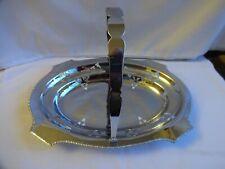 More details for vintage stainless steel swing handle cake / fruit basket.  27 x 20 cm