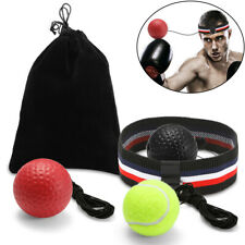 3PCS Boxing Fight Punch Ball + Head Band Reflex Reaction Speed Training Muscle