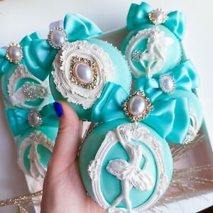 Tiffany Color Christmas Ornaments Ballerina Handmade Decor Blue Crystal Ballet