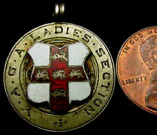 "S850: 1913 Solid Silver and Enamel Watch Chain Fob - 5.62g - ""Y.A.G.A. Ladies"""