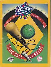 DARRYL STRAWBERRY SIGNED NY YANKEES vs PADRES 1998 WORLD SERIES PROGRAM w/ COA