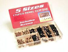 170 Piece Panel Clip Assortment with Storage Case U-Clips + Metal Screws Variety