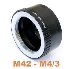 M42 Lens 2 Micro 4/3 m43 Adapter Panasonic GH1 GH2 G2 G10 GX1 GX2 GX7 GM1 GM5