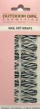 Outdoor Girl 20 Nail Art Wraps/POLACCO IN BELLA Zebra Plus Emery Board