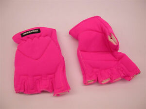 LADIES FINGERLESS WINTER MITTS NEON PINK CYCLING & GENERAL USE GLOVES SIZE MED