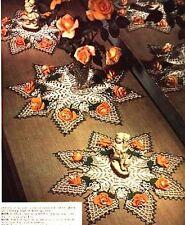ROSES IN CROCHET Crochet Patterns FILET Doily DOILIES Table MAT Coaster CENTERPI
