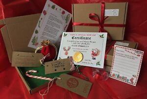 BULK Santa XMAS Eve Box Personalised A5 Size Letter Magic Key & Reindeer Food
