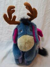 "Walt Disney Winnie the Pooh Eeyore With Antlers 10"" Plush Stuffed Animal Toy"
