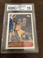 1996-97 Topps #138 Kobe Bryant Rookie Graded Gem Mint 10 (PSA or BGS?) Lakers RC