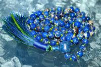 AAA 108 Blue Imperial Jasper Mala Beads Necklace Prayer Chakra Bead Variscite