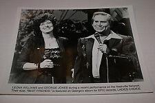 LEONA WILLIAMS & GEORGE JONES RARE  NASHVILLE NETWORK 8X10  PROMO PICTURE HTF