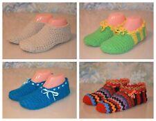 handmade womens crochet slippers, women's flats, wool slipper socks, house shoes