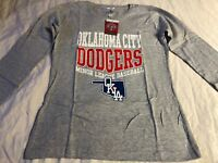 Soft As A Grape Minor League Baseball Oklahoma City Dodgers Long Sleeve Small