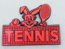 3D Aufkleber Tennis Hase rot schwarz Kaninchen Klebeschild
