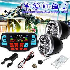 💦 Waterproof Motorcycle bluetooth Handlebar Speaker Radio MP3 Player ATV USB US