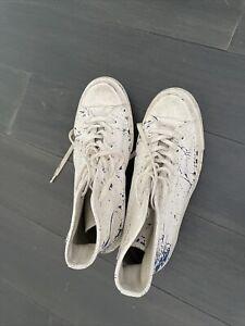 Maison Martin Margiela x Converse Painted Trainers Shoes mens 7. Worn No Box