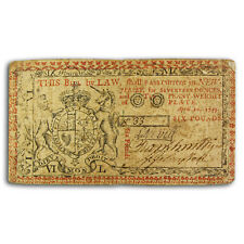 1759 6 Pounds New Jersey Colonial Currency 4/10/59 Vf - Sku#224464