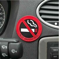 3pc Rubber NO SMOKING Sign Tips Warning Logo Stickers Car Taxi Door Decal Badge