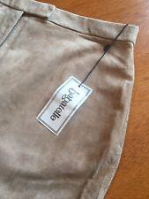 Vintage Bagatelle Suede Leather Maxi Slit Camel/Tan Boho Skirt 16 new w tags!