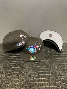 Hat Club Toronto Blue Jays 60th Custom 59Fifty Brown/Pink New 2021 Flowers
