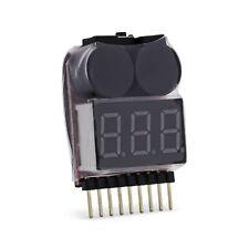 RC Lipo Alarm Warner 1S - 8S On Board LED Buzzer Summer Akku Schutz Pieper