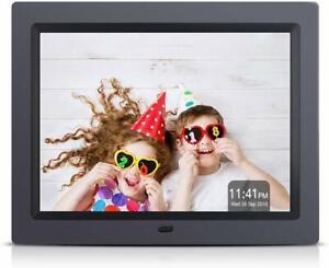 "8"" Inch HD LED Digital Photo Frame USB Clock Music Video Player Remote Control"