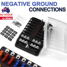 12 WAY FUSE BLOCK BOX HOLDER ATC ATO BLADE CARAVAN  MARINE DUAL BATTERY 12V AU