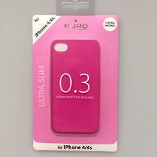 boîtier ULTRA MINCE 0.3 Pochette de protection pour apple iphone 4 4S ROSE Puro