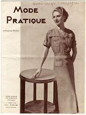 Mode Pratique. Französische Zeitschrift. No. 16, April, 1936