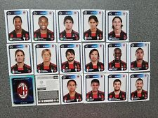 PANINI CHAMPIONS LEAGUE 2010/2011 AC MILAN COMPLETE SET 17 STICKERS