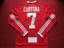 8ddf6ac1157 MANCHESTER UNITED LEGEND ERIC CANTONA HAND SIGNED HOME SHIRT JERSEY- PHOTO  PROOF