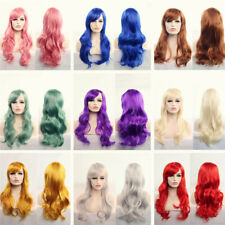 70cm Long Curly Hair Wigs Anime Long Curly Wavy Synthetic Hair wig Party Cosplay