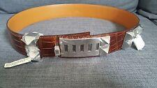 100% Authentic Hermes Collier De Chien CDC Belt Crocodile/Alligator 90 BNWT