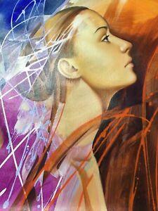Galya Bukova-Original Acrylic Painting/Canvas/Hand Signed. Free Shipping in USA