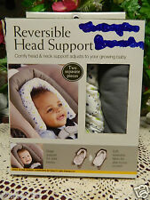 Nib Eddie Bauer Reversible Head Support 2 Pieces Adjusts To Growing Baby.