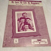Sheet001 Sheet Music Piano Guitar Ukulele  My Love My Life My Happiness 1952