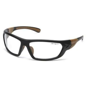 Carhartt CHB210D Carbondale Black/Tan Frame With Clear Lens Safety Glasses