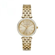 NEW MICHAEL KORS MK3365 MINI DARCI GOLD TONE LADIES WATCH - 2 YEARS WARRANTY