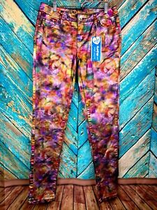 GIRL'S JUSTICE PREMIUM SIMPLY LOW SUPER SKINNY MULTI-COLOR JEANS ~ SIZE 18R